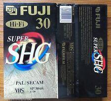10 X Fuji Super High Grade SHG E-30 E30 30 MINS Half Hour Blank VHS Video Tapes
