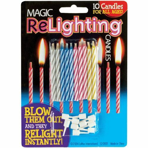 Loftus Magic Trick Relighting Birthday Candles 10pc