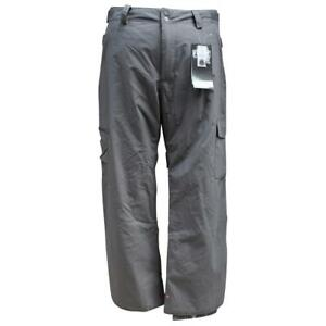 Quiksilver-Atacama-Mens-Size-XL-Grey-Smoke-Waterproof-Ski-Snow-Board-Pants