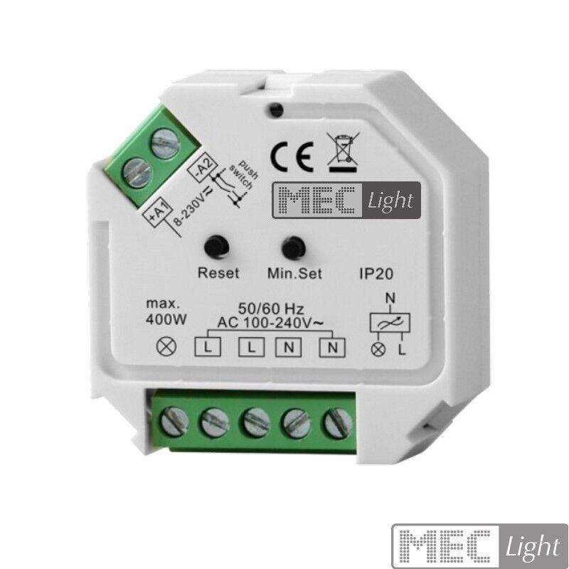 ZigBee Dimmer   Controller 230V   400W LEDs schalten   dimmen (SR-ZG9101SAC-HP)