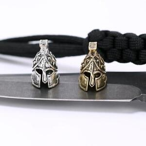 Image Is Loading 1pc Paracord Bead Metal Charm Spartan Bracelet