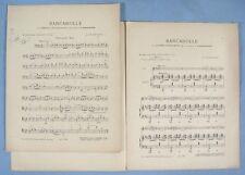 """Partition """"Barcarolle des Contes d'Hoffmann"""" / Violoncelle & Piano"""