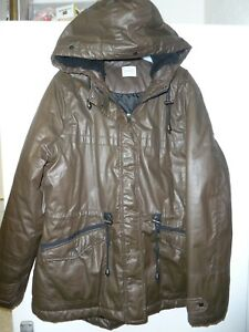 e99717cbc Details about Women's Brown Hooded Waterproof Coat by George, Asda, Size 16