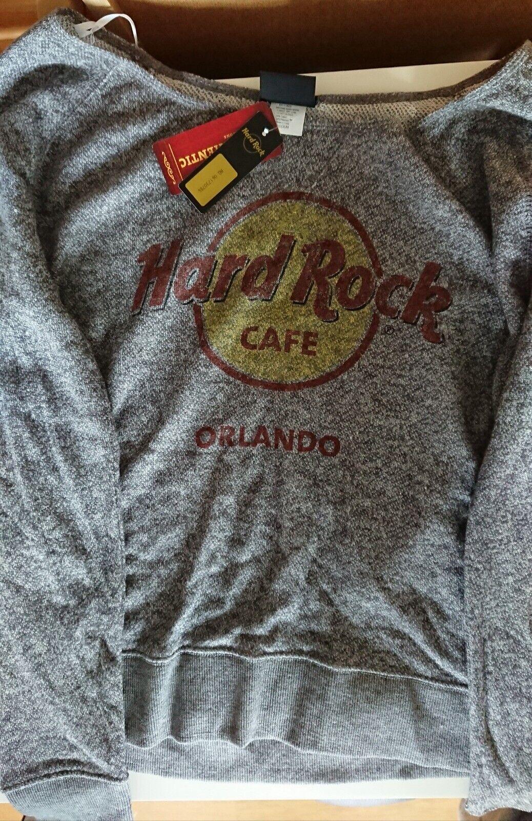 Hard Rock Cafe - Orlando - Damen Classic French Terry Crew (Longsleeve) - M (US)