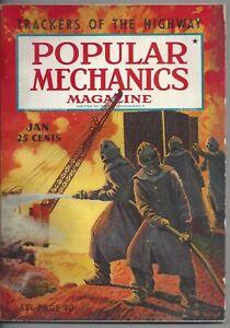 Magazine Popular Mechanics January 1939 Aviation Radio Oil Well Fires