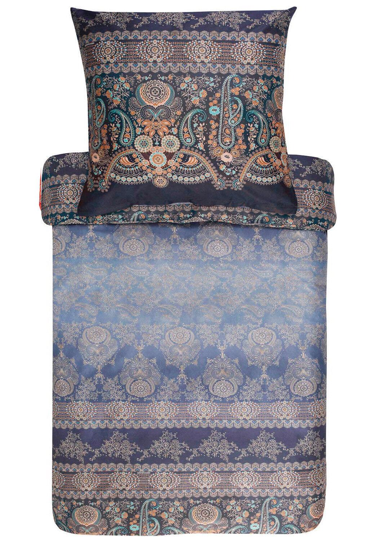 Bassetti Bettwäsche  GRAN PARADISO V3 blau 100% Baumwolle Ornamente Mediterran