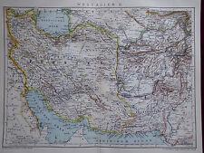 Landkarte von West - Asien II, Persien, Afghanistan, Brockhaus 1901
