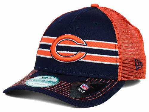 4c3bb630d851e Chicago Bears New Era 9Forty Frontband NFL Team Logo Trucker Cap Hat