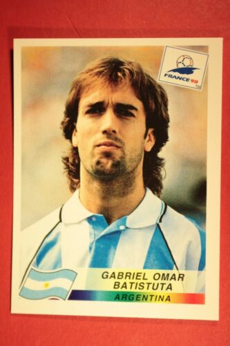 514 ARGENTINA BATISTUTA WITH BLACK BACK MINT!! PANINI WC WM FRANCE 98 1998 N