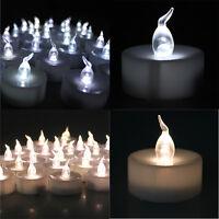 24/100 Led White Flicker Flashing Flameless Tea Light Tealight Electronic Candle