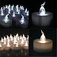 24/100 Led White Flicker Flashing Flameless Tea Light Tealight Electronic Candle