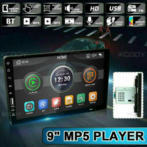 9 Inch 2Din Multimedia Player MP5 Player Radio Car Stereo FM BT Touchable w//Cam