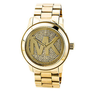 472e1fa1ae8e New Michael Kors MK5706 Ladies Runway Crystal Pave Dial Watch -UK ...