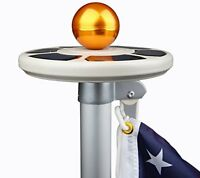 Sunnytech 3rd Generation Solar Power Flag Pole Flagpole Light,upgraded Ufo Desig