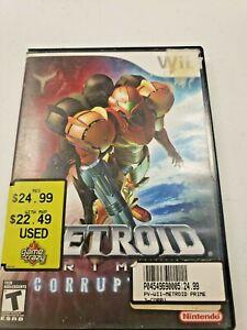 Metroid Prime 3: Corruption (Nintendo Wii, 2007) No Manual