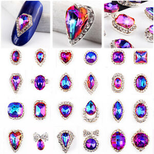 Bling-Glitter-3D-Nail-Art-Decorations-Alloy-Rhinestone-Charm-Cute-Tips-Stickers