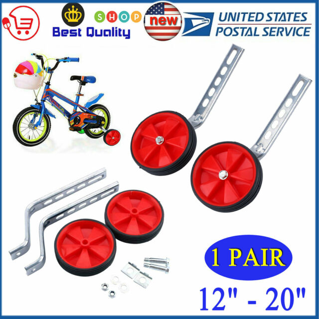 Bicycle Training Wheels 12 To 20/'/' Wheels Child Bike Side Wheels Stabiliser Kit