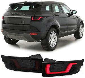 Dynamic Led Lightbar Back Rear Tail Lights Black Smoke For