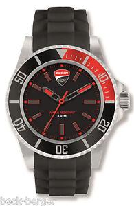 DUCATI-Corse-RACE-Uhr-Quarz-Armbanduhr-Watch-rot-NEU