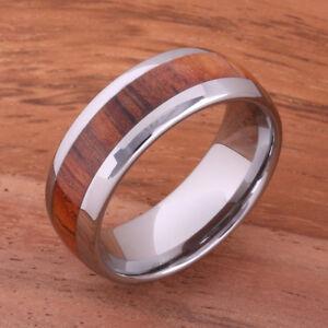 Image Is Loading Hawaiian Koa Wood Big Island Tungsten Wedding