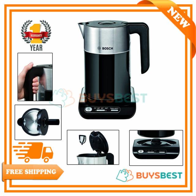 Bosch Styline Cordless Rapid Boil Jug Kettle 3000w 15 Litre Black Twk8633gb