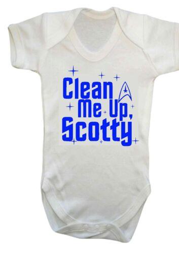 Strampler, Star Trek Spock Daddy Weste Baby Jungen Mädchen Clean Me Up Scotty
