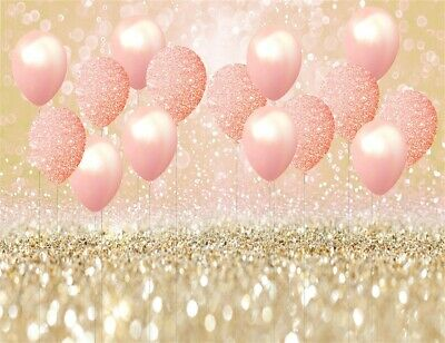 Not Glitter WOALDA 7X5FT Pink Bokeh Backdrop Black and Rose Gold Sweet Sparkle Backdrop Teens Party Happy Birthday Background Kids Bridal Shower Wedding Decor Studio Props 11893