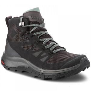Scarpe-donna-hiking-Salomon-OUTline-Mid-GTX-Bk-Magnet-Green-Mili