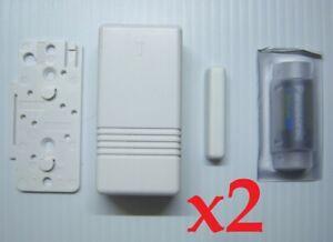 Details about 2 Ademco Honeywell 5816 Wireless Door Window Transmitter  w/New Battery & Magnet