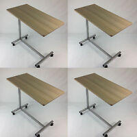 4 X Defective Tray Table Bedside Hospital Top Rolling Overbed Computer Overbed on sale