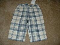 Yacht Club Plaid Tan Blue Pants Size 3-6 Mos Months Baby Boys Gymboree