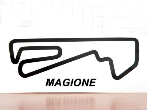 Adesivo MAGIONE circuito pista auto moto perugia autodromo alfa 33 elise track