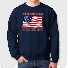 American Flag T-shirt Greatest Damn Country In The World Patriot Crew Sweatshirt