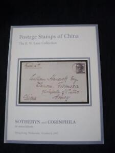 SOTHEBYS-ASTA-CATALOGO-1997-francobolli-della-Cina-034-corsia-034-COLLECTION