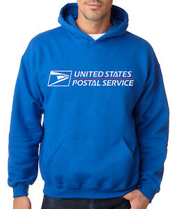 USPS POSTAL ROYAL BLUE HOODIE Post Office Employee Sweatshirt Service Sizes S-3X