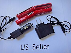 4x18650-Battery-AC-Wall-DC-Car-Charger-For-Headlamp-Flashlight-Torch-Light-USA