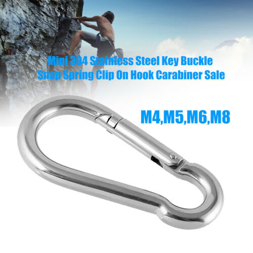 Mini Stainless Steel Carabiner Key Chain Keychain Clip Hook Outdoor Buckle Well