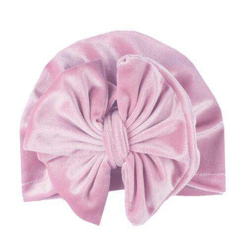 Neugeborene Kinder Mädchen Baby Beanie Turban Mütze Hijab Kopftuch Haarband DE