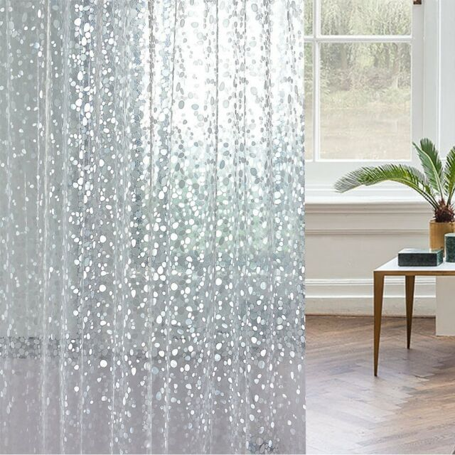 15 Gauge Premium Nontoxic Eva Shower Curtain Clear Wimaha Mildew Resistant Anti Bacterial 717630889874