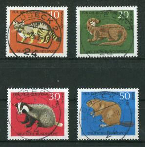Bund-549-552-gestempelt-Vollstempel-Luebeck-BRD-Tagesstempel-Bedrohte-Tiere