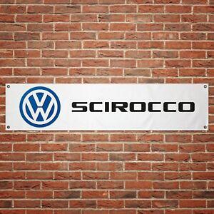 Volkswagen-Scirocco-Banner-Garage-Workshop-PVC-Sign-Trackside-Car-VW-Display