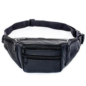 Echtes-Leder-Taille-Taschen-Mann-Guertel-Tasche-Mann-Guertel-Tasche-Schulter-N4M