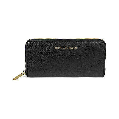 Michael Kors Bedford Black Leather Continental Wallet