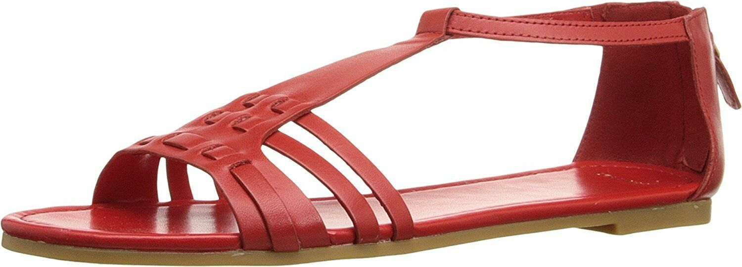New Cole Haan Women's Cady Flat Sandal Fiery Red Sandal 9