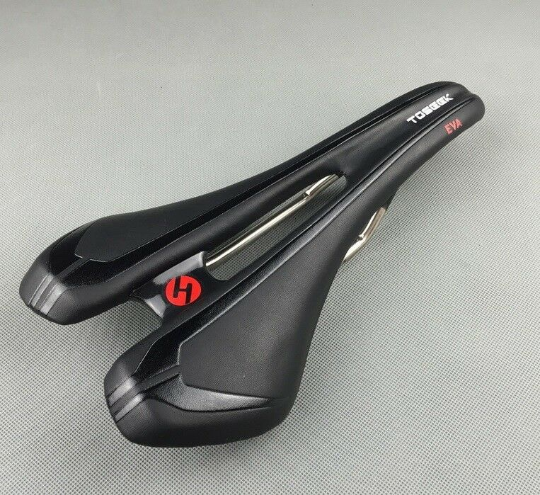 Titanium rails Saddle Leather Cushion pad Hollow Seat MTB Mountain XC road Bike
