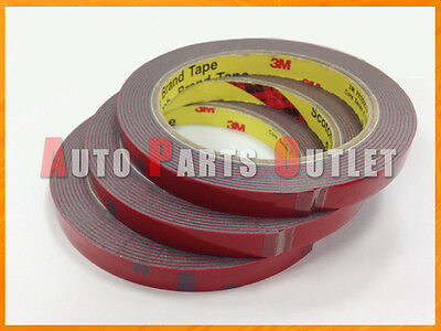 10Pcs Car SUV Truck Acrylic Foam Double Side Tape Adhesive 3m x 10mm Must Haves