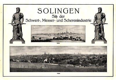 100% QualitäT Eigenwerbung Solingen Xl Reklame 1925 QualitäTswaren