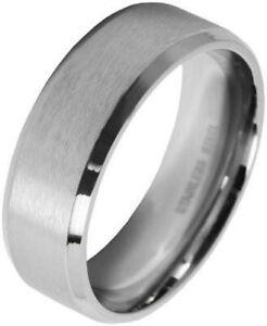 Herrenring AK0035 Akzent Edelstahl Herren Ring Klassisch Rund Silber