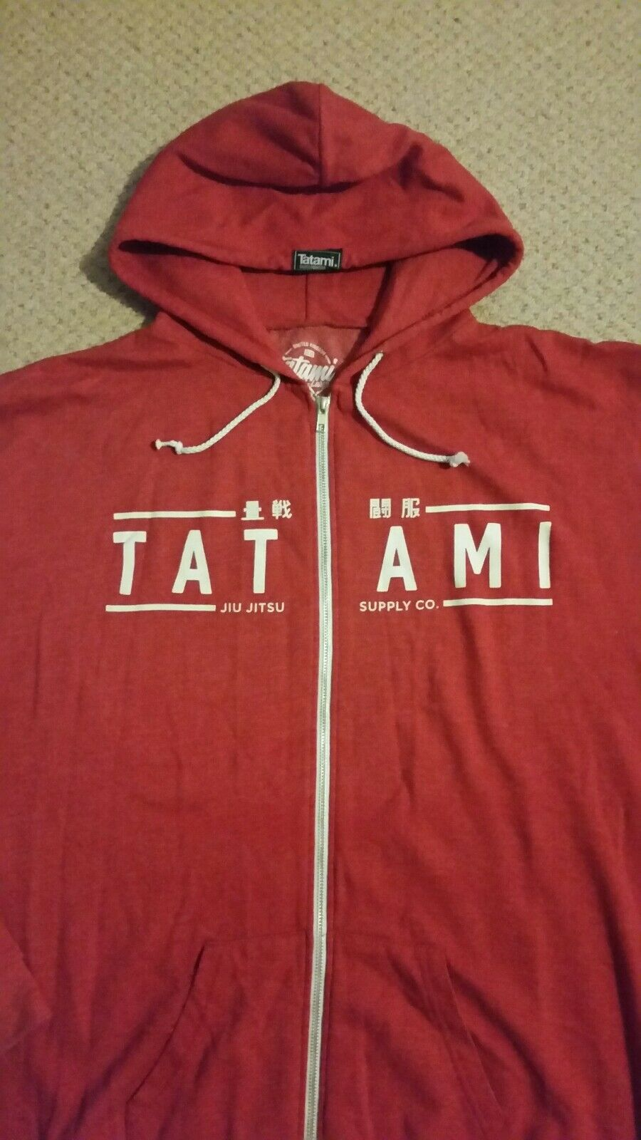 TATAMI ZIP UP HOODED SWEATSHIRT XXL ,,,  MMA UFC BJJ JIU JITSU GRAPPLING KSW GYM