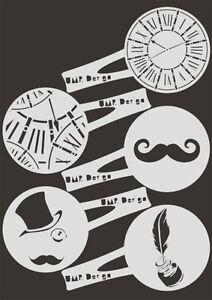 Bäckereiausstattung Bäcker & Konditor Keksschablone Kaffee Barista TK-001 Weihnachten ~ cookie stencil ~ UMR-Design